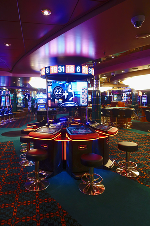 Casino lounge with slot machines