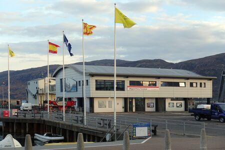 Ullapool Ferry Terminal, Scotland, UK 新聞圖片