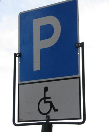 Handicap parking sign photo