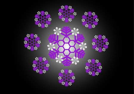 illustration-abstract snowflake