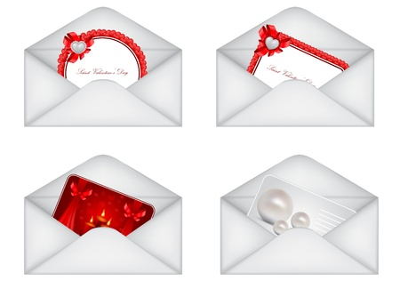 envelope icon: vector Saint Valentines Day greeting card