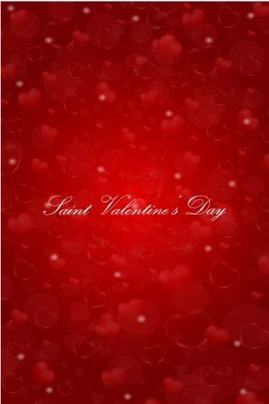 vector Saint Valentine s Day greeting card