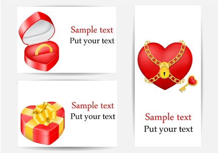 vector set of greeting cards,love templates Stock Vector - 17666164