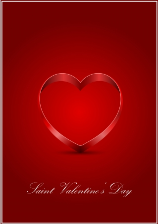 vector Saint Valentine s greeting card Stock Vector - 17666154