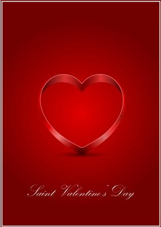 vector Saint Valentine s greeting card Stock Vector - 17666154