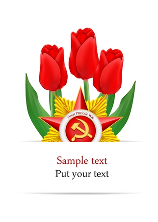 communism: vector greeting card designed to Victory Day