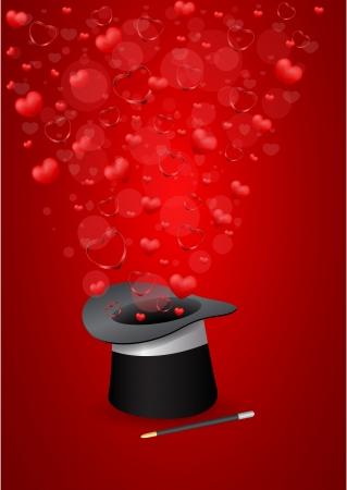 saint valentine s day: vector Saint Valentine s Day greeting card Illustration