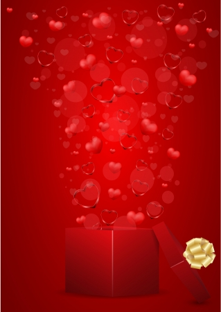 vector valentine greeting card  Stock Vector - 17666246