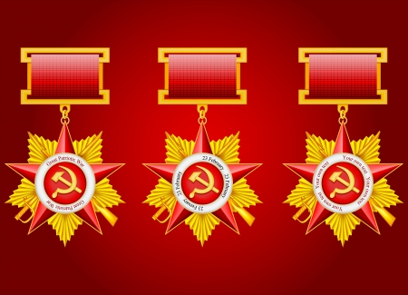 stalin: vector set of military medals