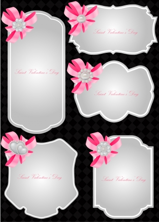 vector set of valentine greeting cards  Stock Vector - 17666205