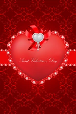 rich couple: vector vintage valentine greeting card  Illustration