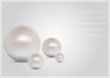 vector greeting card with pearls