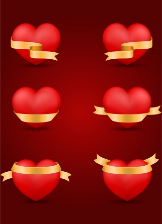 vector set of decorative Saint Valentine s hearts Vector