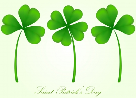 three month: vector set of three and four leaf clover