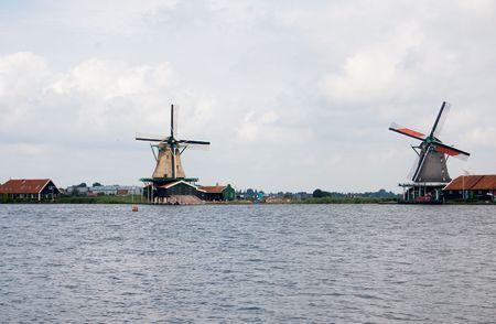 watermills: 2 dutch mills with telelens