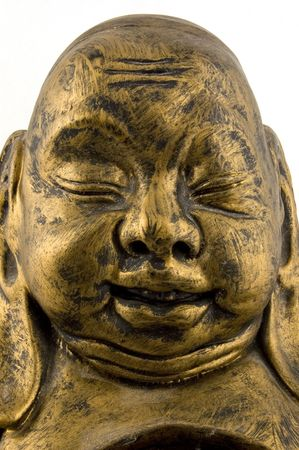 close up of golden buddha  photo