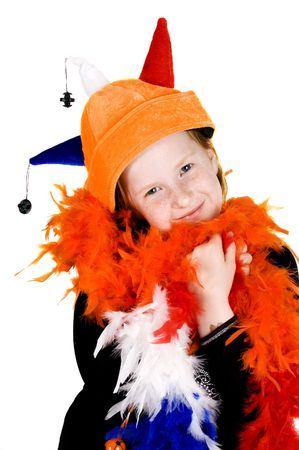 majesty: little girl ready to celebrate queensday