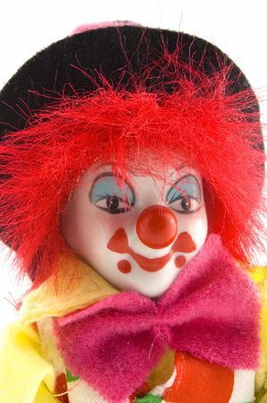 close up of a clowns face Stock Photo