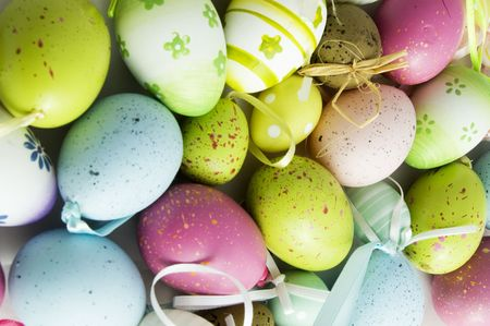 colorfull background of eastern eggs Stock Photo