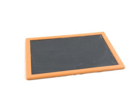 notification: empty chalkboard isolated on a white background