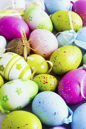 colorfull background of eastern eggs   photo