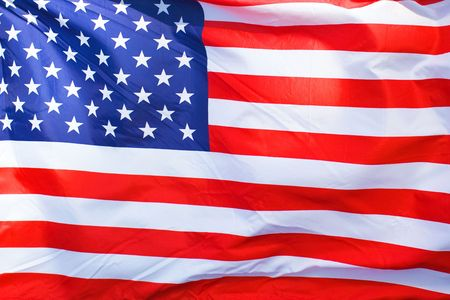 an American flag background waving in the wind Stock Photo - 4875801
