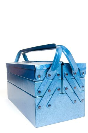 blue tool box isolated on a white background