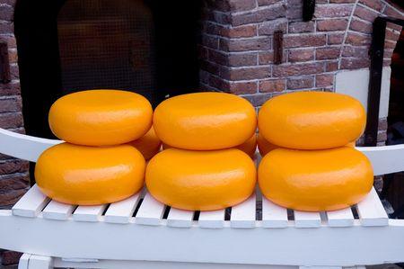Dutch cheese on a white car , made in amsterdam