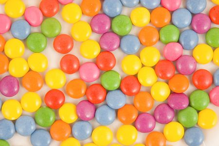 smarties: Lots of colorful smarties on white  Stock Photo