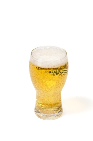 glass of beer on a white background Stock Photo - 7132663