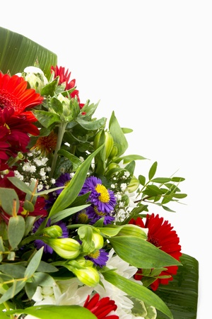 flower bouquet with space for text