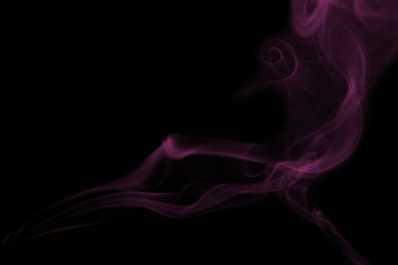 art smoke on black Stock Photo