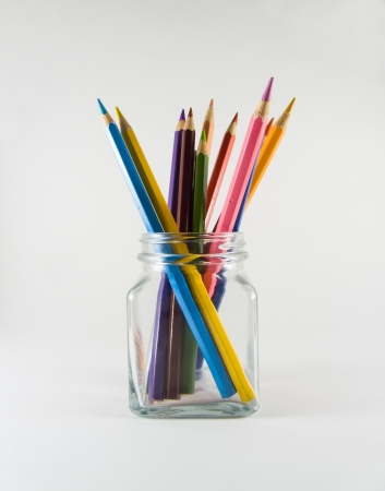 Color Pencil in Glass Jar photo