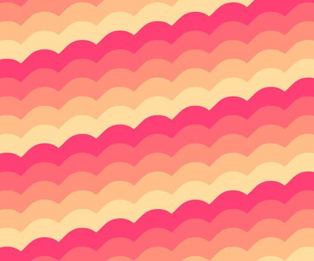 pinky: Pinky orange vintage wave pattern