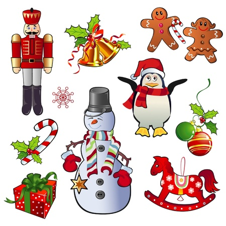natal: Set of Christmas Vector Illustrations