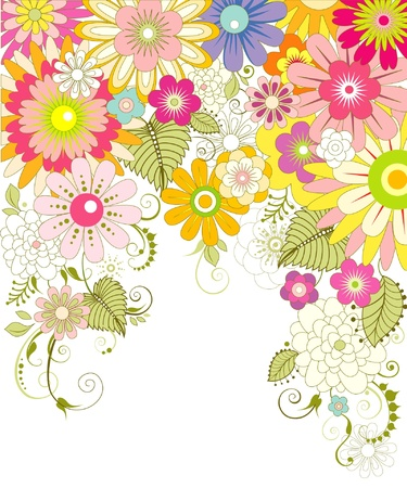 flore: flower background Illustration