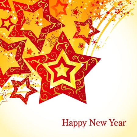 New-Years background with stars Stock Vector - 11662449