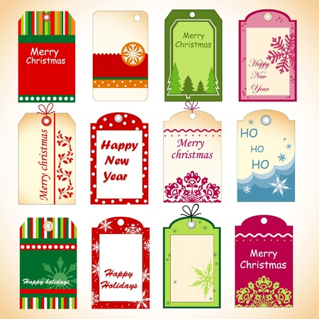 Christmas set of tags