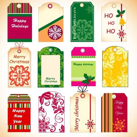 Christmas set of tags Stock Vector - 11662461