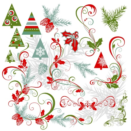 elements for christmas design Illustration