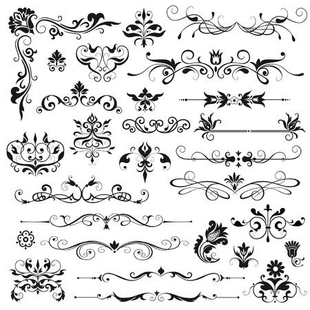 花用の要素セット デザイン