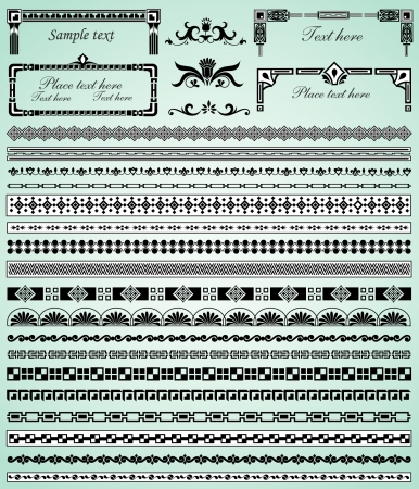 set of decorative borders Illustration
