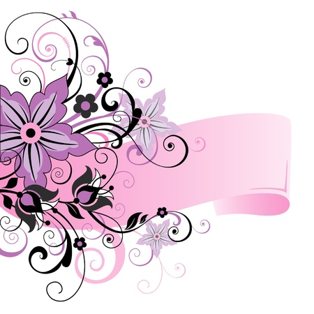 Flowers background with place for your text Illustration
