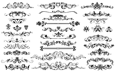 ornamental background: elements for design and page decoration Illustration