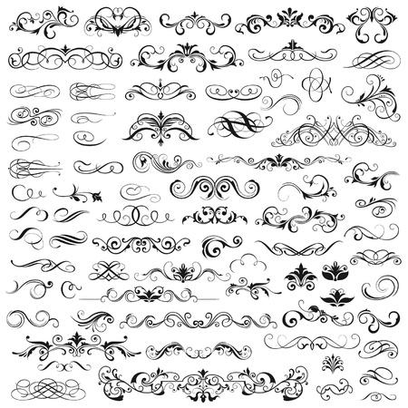 calligraphique: Ensemble d'�l�ments graphiques pour la conception