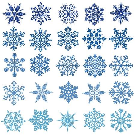 natal: set of  snowflakes