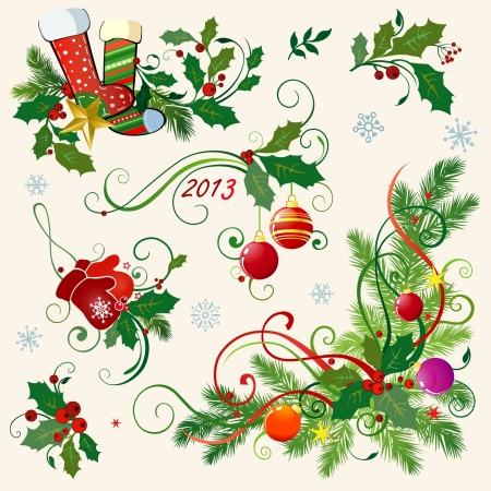christmas holly: Christmas corners