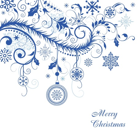 ornamental background: Christmas background