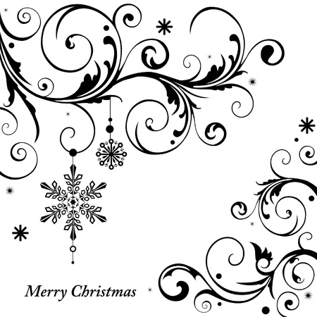 Monochrome Christmas card