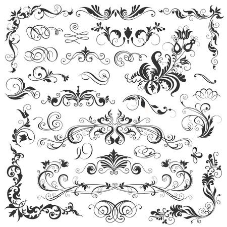 calligraphic design elements Ilustração